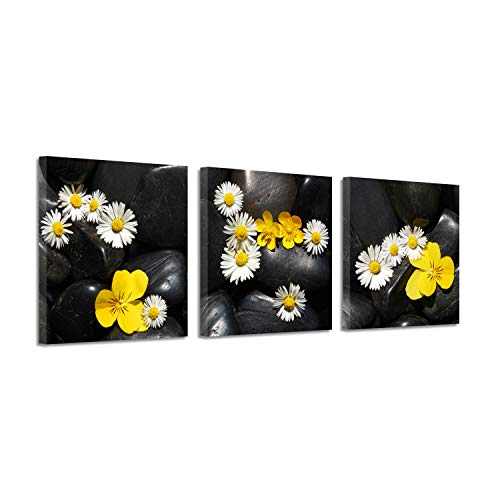 - Floral Art Flower Picture Prints: Daisy Graphic Art on Canvas for Home Decor