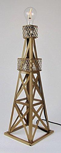 - Handmade Oil Derrick Table Lamp Base Finish: Gold