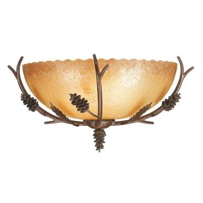 (Lodge 1-Light Weathered Spruce Wall Sconce)
