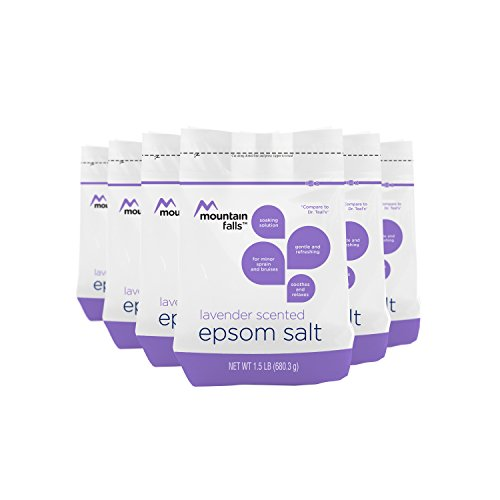 Mountain Falls Epsom Salt, Lavender Scented, Compare to Dr. Teal's, 1.5 Pound (Pack of 6) (Scented Bath Salt Herbal)