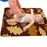 Oak Crib with Changing Table GLing-LIFE Autumn Oak Leaves Pattern Portable Diaper Baby Changing Pad Multi-Purpose Travel Changing Mat