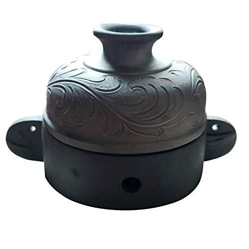 WTTHCC Tarro de cerámica Negro meteorito Desempeñar el Papel de Las Drogas Acelere el Flujo sanguíneo Desintoxicación...