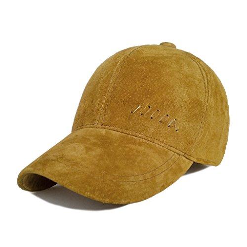 (LETHMIK Baseball Cap Vintage Adjustable Unisex Suede Leather Hats with Snapback Light)