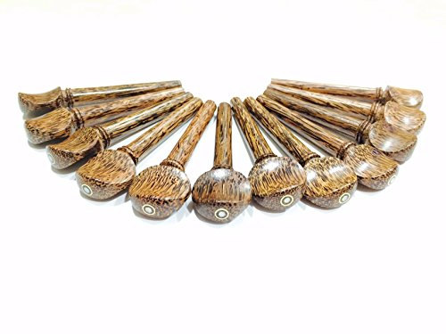 Set of 12 Indian Palmwood Pegs for Violin,Viola & Oud with parisian eye by ADINATH MUSIC