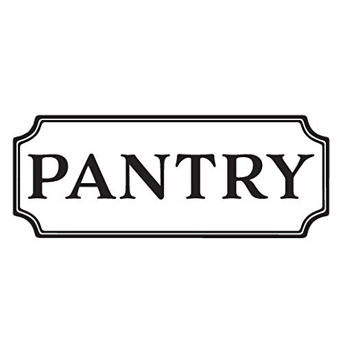 Pantry Vinyl Decal, Kitchen Vinyl Decal, Glass Door Decal, vinyl lettering, Rectangle Border Fame sign, Wall sticker HH2066 (Cabin With Glass Door compare prices)