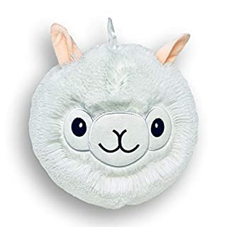 """Monchiz - The Best Indoor Outdoor Inflatable Fluffy Super Soft Plush 9"""" Ball for Kids Washable Lightweight for Kids Birthday Kids Room Decor. (White LAMA)"""