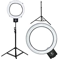 Diva Ring Light Nebula 18 LED Dimmable Photo/Video Ring Light w/ 6 Light Stand