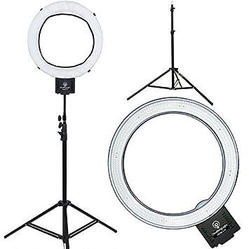 "Amazon Diva Ring Light Nebula 18"" LED Dimmable Video"