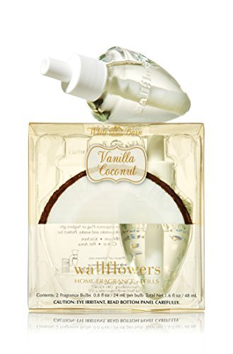 Bath & Body Works Wallflowers Home Fragrance Refill Bulbs 2 Pack Vanilla Coconut by Bath & Body Works