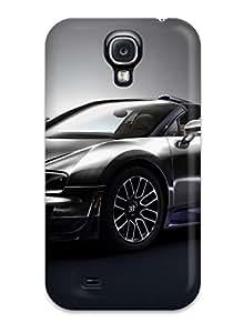 Durable Defender Case For Galaxy S4 Tpu Cover(2014 Bugatti Veyron Ettore Bugatti Legend Edition)