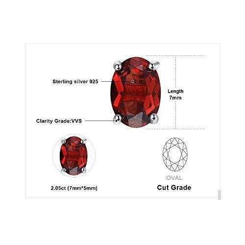 Ametista Viola Citrino Peridoto Sterling Verde Rosso Argento Ovale Naturale 925 Orecchini Topazio Granato Jewelrypalace Azzurro qExHzBSc5