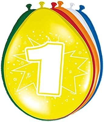 Amakando Esfera con número Cumple Globos cumpleaños 1 año ...