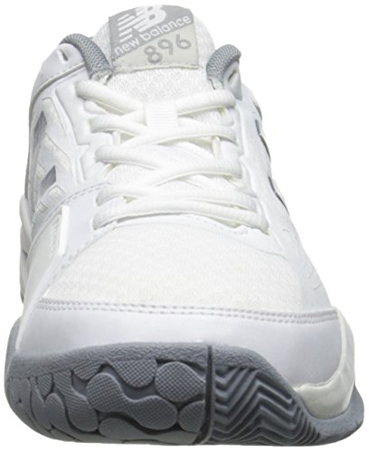 New Balance Women's WC896 Lightweight Tennis Shoe White/Silver