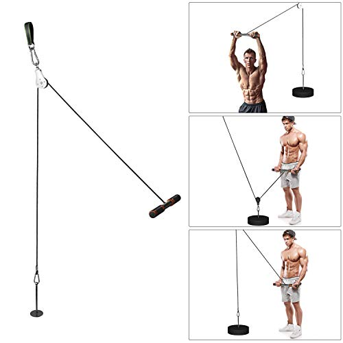 antWalking Forearm Wrist Roller Trainer, Pulley Cable System, Weight-Bearing Rope Arm Strength Training Weights Grip…