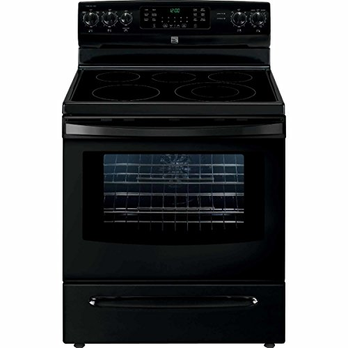 Kenmore 02294209 Self Clean Electric Range in Black, Includes Delivery and Hookup, 5.7 cu ft, White