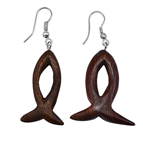 Silvesto India Wooden Boho Jewelry Eco-Friendly 925 Silver Plated Handmade Jewelry Manufacturer Minimalist Earring
