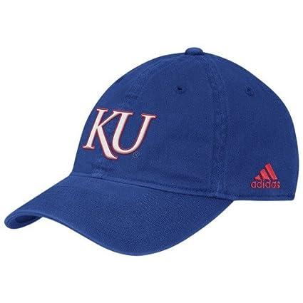 8b9b77bf073 Amazon.com   adidas Kansas Jayhawks Royal Blue Slope Flex Fit Hat ...