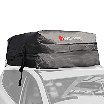 Wisamic Car Top Carrier Waterproof - 30 Cubic Feet Roof Top Cargo Bag Car Rooftop Cargo Carrier Soft Rooftop Luggage Carriers with Wide Straps for Car Canvas Jeep or SUV