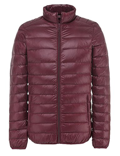 Wine EKU Men's Jacket Down Outdoor Puffer XL Packable Red Light US Coat Crwxvqdr