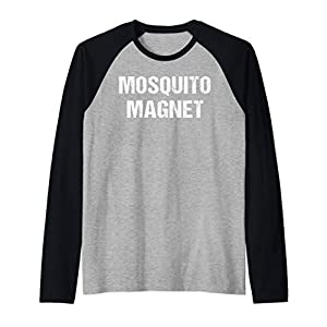 Funny Mosquito Shirt Mosquito Magnet Bugs RV Glamp Camping Raglan Baseball Tee