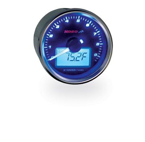 Koso GP Style Universal Tachometer W/Water Temp Gauge by Koso