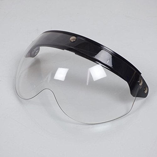 Ecran visi/ère plat transparent relevable pression casque bol jet Torx Wyatt neuf