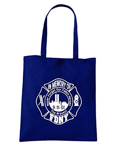 T-Shirtshock - Bolsa para la compra FUN0396 829c 911 decal vinyl sticker 63751 Azul Marino