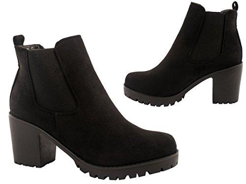 Elara Womens Chelsea Boot | Comfortable Ankle Boot Grip Sole Platform Chelsea Boots black Size: 3 UK dKV3BWcB