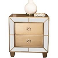 Abbyson Nina RK-B777-1710 Mirrored 2 Drawer Nightstand