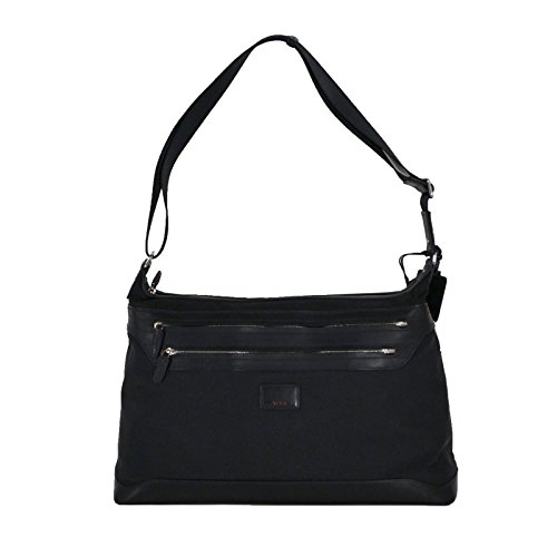 Tumi Townhouse Halkin Crossbody Carry On Laptop Bag Luggage in Black by Tumi