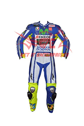 VALENTINO ROSSI MOTORBIKE MOTORCYCLE RACING LEATHER SUIT BY GIE (XXL)