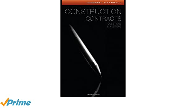 Construction contracts questions and answers david chappell construction contracts questions and answers david chappell 9780415375979 amazon books fandeluxe Choice Image