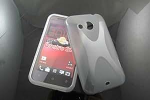 CellMACsTM X-Design TPU Rubber Gel Case Cover for HTC Desire 200 - Clear