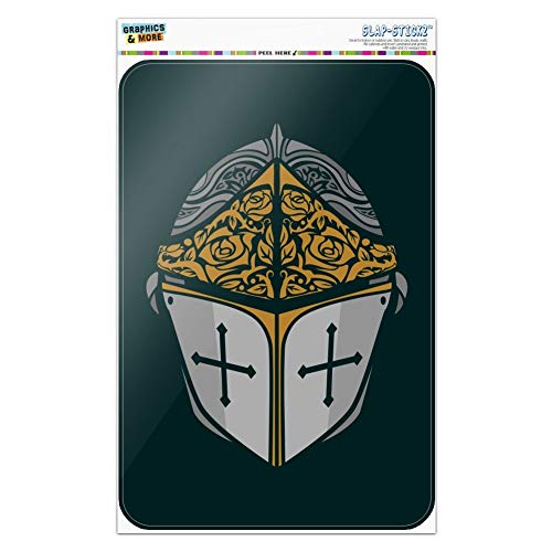 - GRAPHICS & MORE Knight Warrior Helmet Medieval Roses Templar Home Business Office Sign - Window Sticker - 12