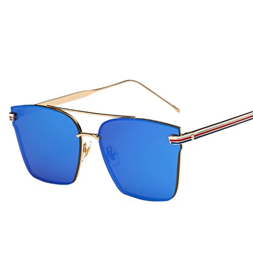 Ikevan 2017 Newest Woman Men Fashion Square Metal Frame Mirror Sunglasses Sunglasses - Stores Square Fashion