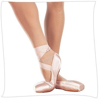 (SANSHA Soft-Toe, DP801 Demi-Pointe Shoe (NO Shank), Peach Pink, 9 W)