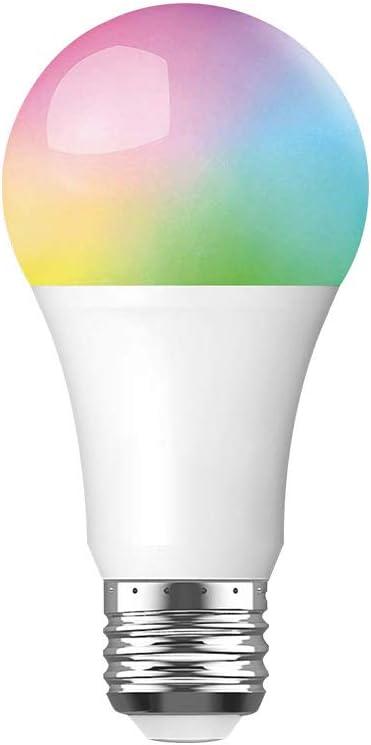 BMG Bombilla LED De Colores, RGB Music Sync Bombillas Regulables De Cambio De Color 7 9 10W Control De Voz Bombillas LED Inteligentes Multicolores: Amazon.es: Deportes y aire libre