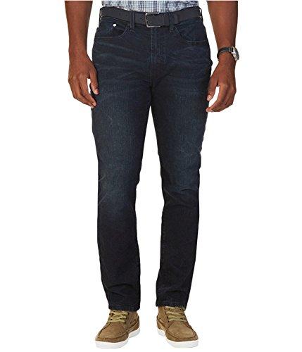Nautica Dark Mens 36x34 Button-Front Slim Skinny Jeans