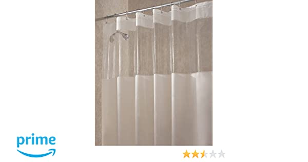 Amazon.com: mDesign EVA Shower Curtain with Window, 100 ...