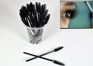 Docooler 100Pcs Disposable Eyelash Mascara Applicator Wand Brush