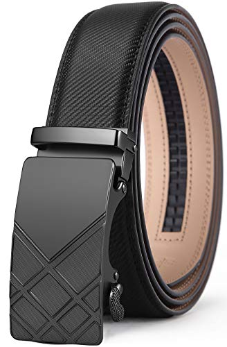 Men's Belt,Bulliant Slide Ratchet Belt for Men with Genuine Leather 1 3/8,Trim to Fit