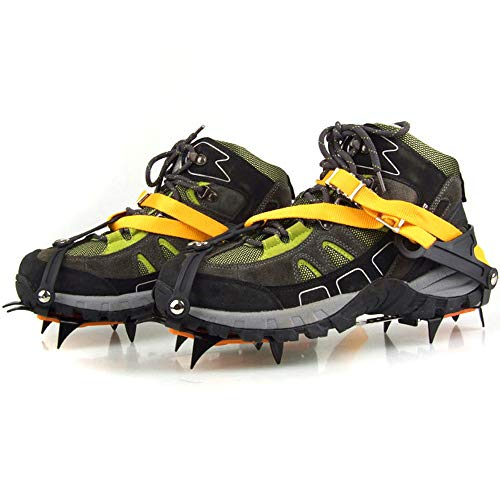 Docooler Strap Type Crampons Ski Belt High Altitude Hiking Slip-resistant 10 Crampon (Lighter Version)