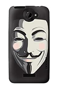 S0970 Anonymous V Mask Guy Fawkes Case Cover For HTC ONE X