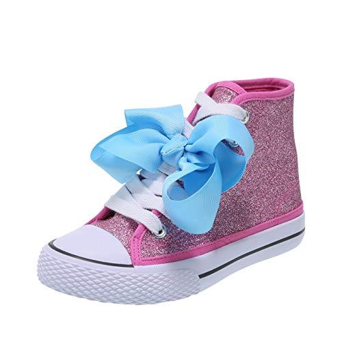 Nickelodeon Shoes JoJo Siwa Pink Glitter Girls' JoJo Legacee Sneaker High-Top 1.5 Regular]()