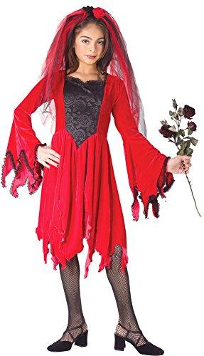 Girls - Devil Bride Red Md Halloween Costume