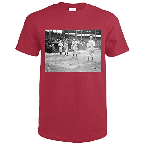 Boston Red Sox Players, Baseball #2 - Vintage Photograph (Cardinal Red T-Shirt XX-Large)