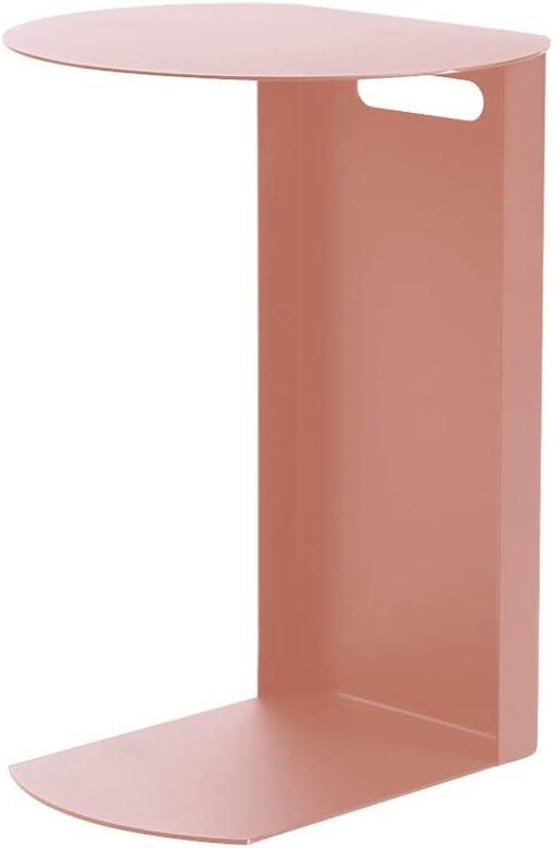 Goedkoop 5-in-1 TABLE XIAOYAN Nordic sofa bijzettafel smeedijzer C-vorm telefoontafel kleine snacktafel 3 kleuren - 40 × 36 × 55,5 cm roze eRBrQoZ