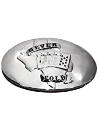 Never Fold Poker Belt Buckle