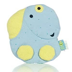 Organic Baby Blue Puppy Crinkler Toy
