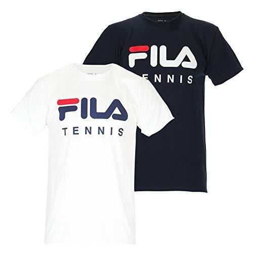 Fila Men`s Fundamental Tennis Tee (X-Large Peacoat/White)